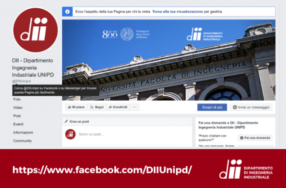 Collegamento a Il DII è su Facebook