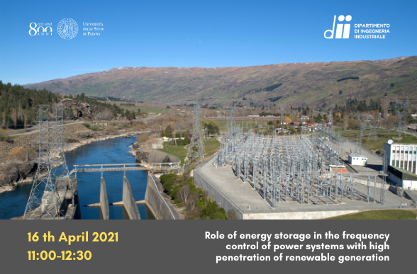 Collegamento a Role of energy storage in the frequency control of power systems with high penetration of renewable generation